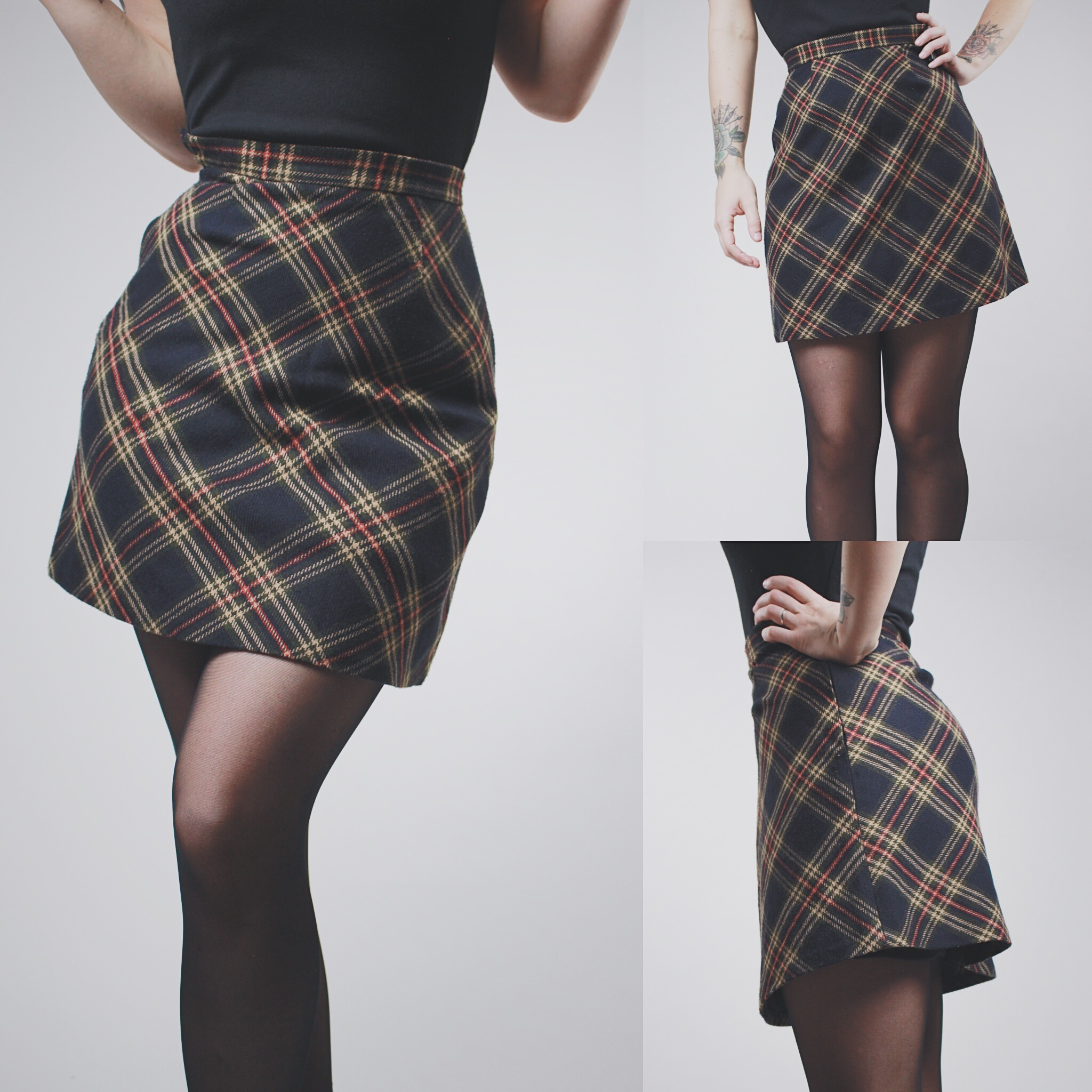 25d571fb4 Navy And Green Plaid Skirt