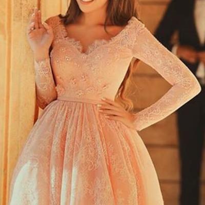 Peach Short Orange Prom Dresses