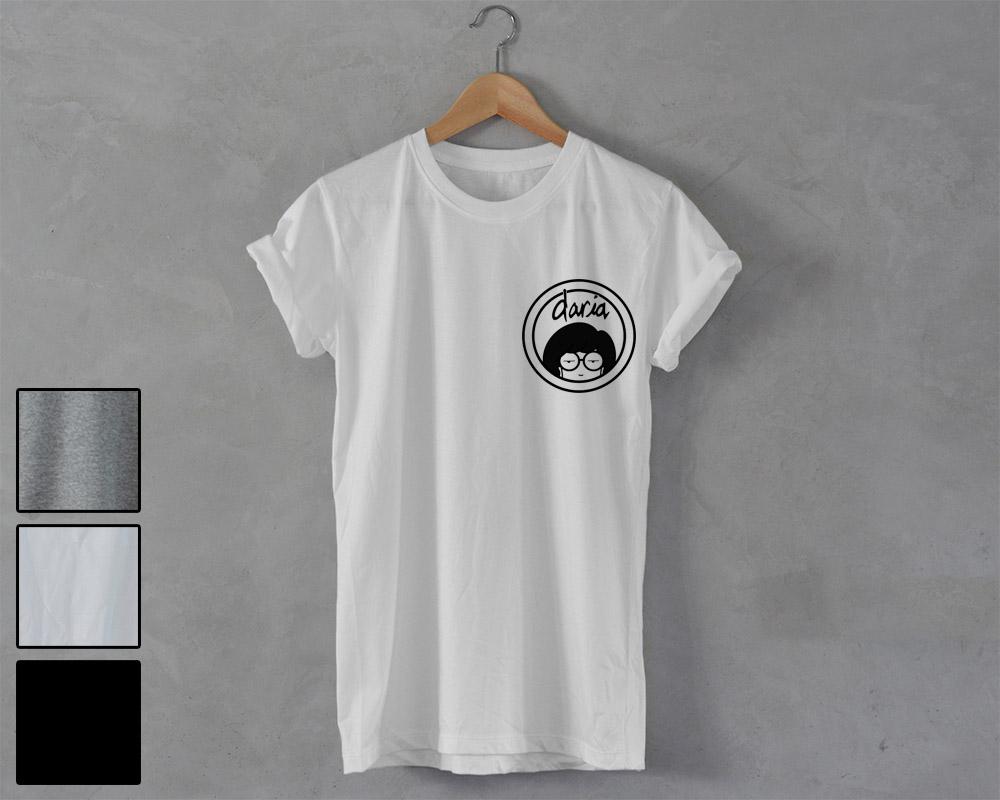 Daria Shirt Daria T Shirt Pocket Print Unisex Tee 90s Tv Show Series