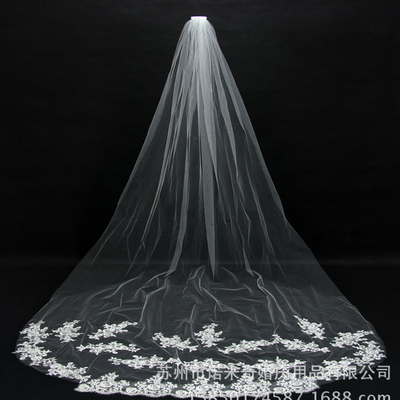Cathedral Tulle Lace Wedding Veil Bridal Veil Nmq009 Onlyforbrides