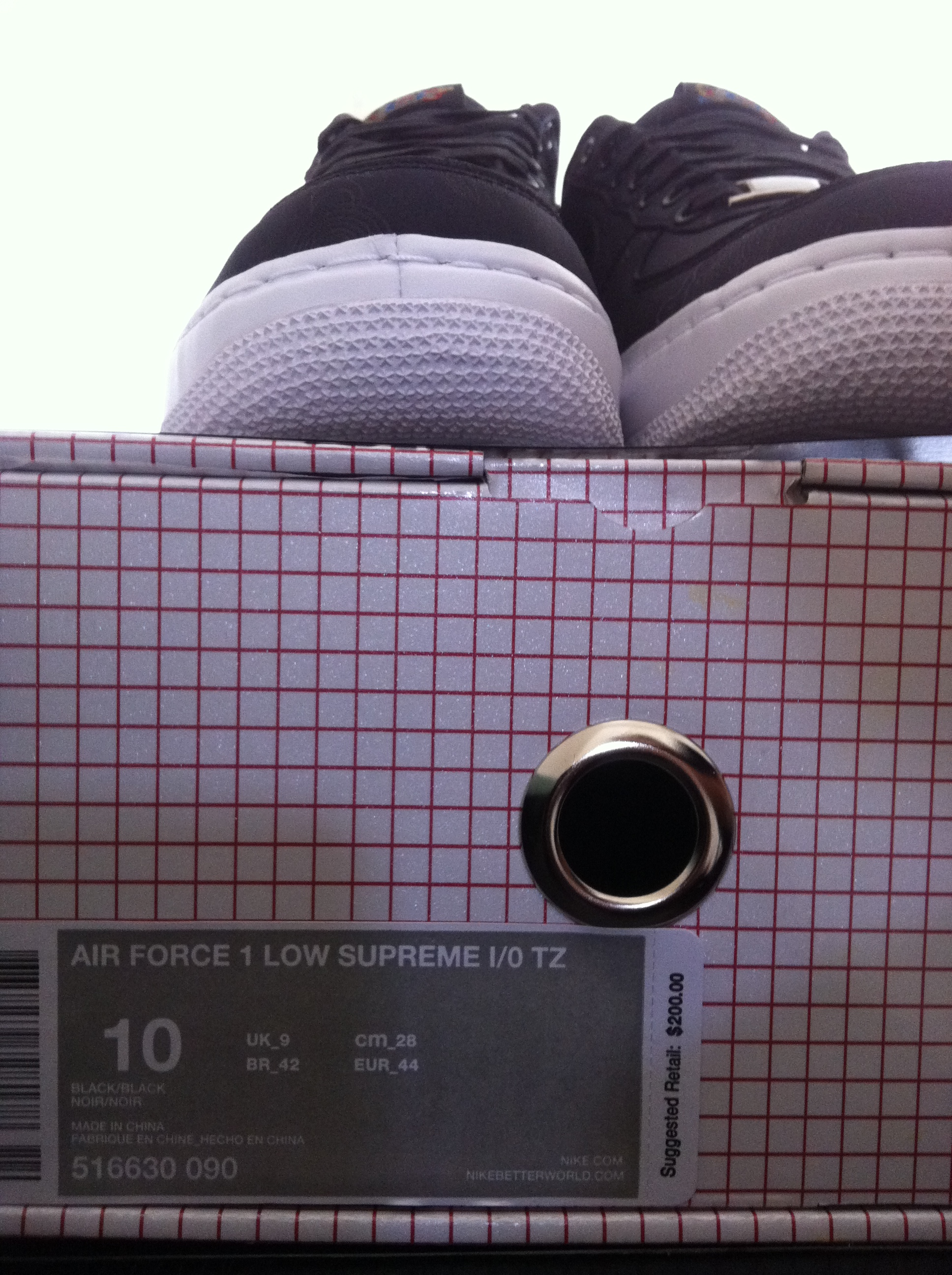quality design 4cd65 06d57 DS - Nike Air Force 1 Supreme I O TZ - Black White on Storenvy