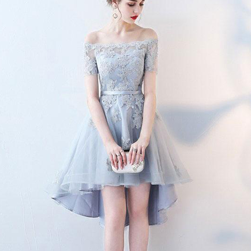 newest collection wholesale online Sales promotion Short sleeves homecoming dress, off the shoulder homecoming dress, high low  homecoming dress, junior homecoming dress, occasion dress, PD15138 from ...