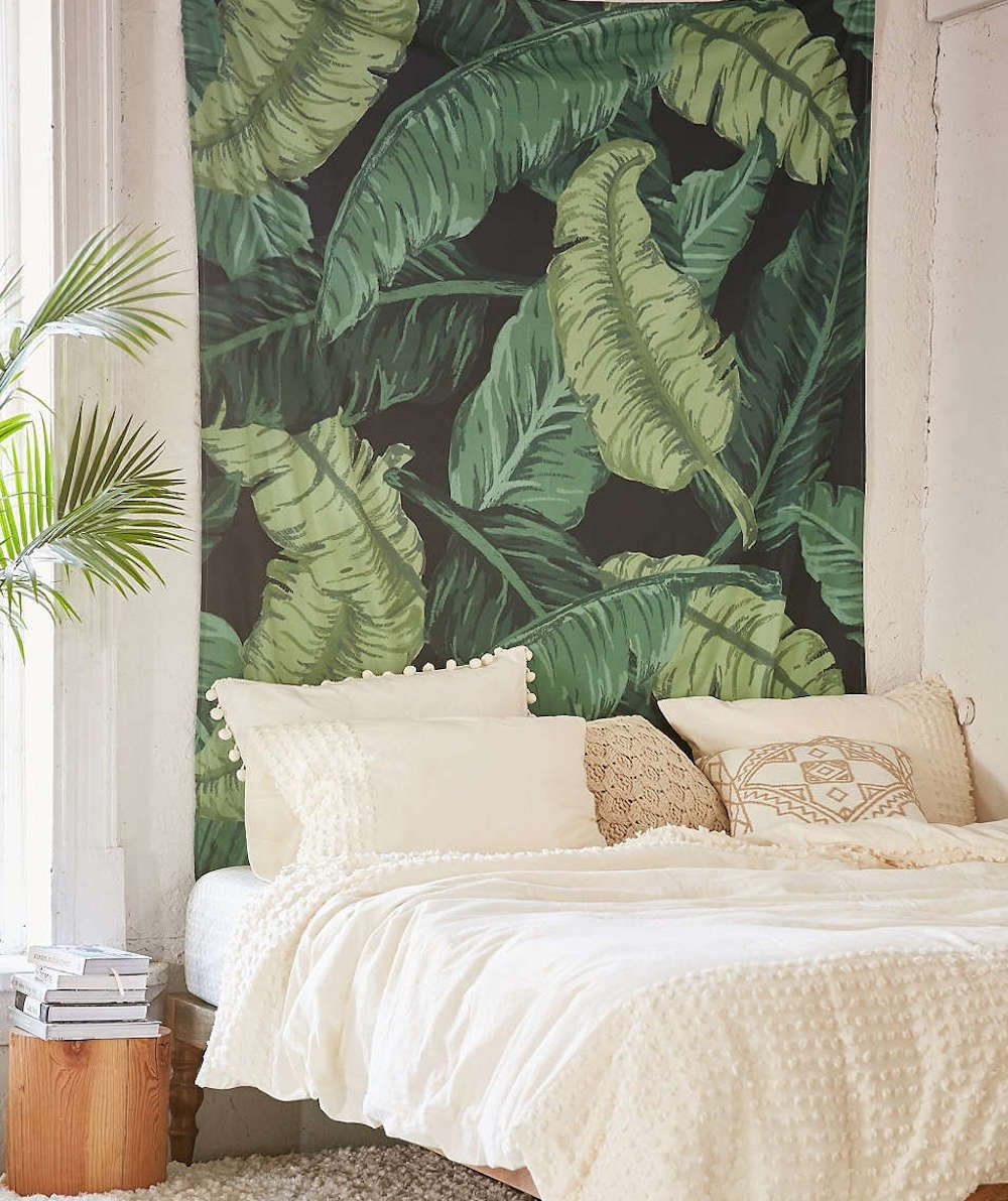 Fresh Banana Leaf Printed Wall Art Hanging Tapestry .Wall Decor Art for  Bedroom Living Room Dorm. sold by Nana Diary