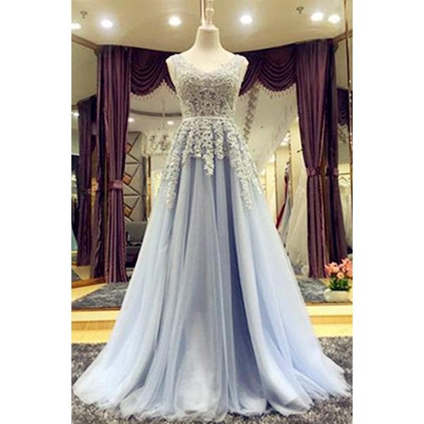 Long Prom Dress Lace Up Back Prom Dress Charming Prom Dress
