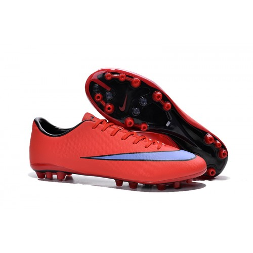 hot sale first look free shipping Nike Mercurial Vapor X AG Bright Crimson Persian Violet Black sold by  Cleats23A