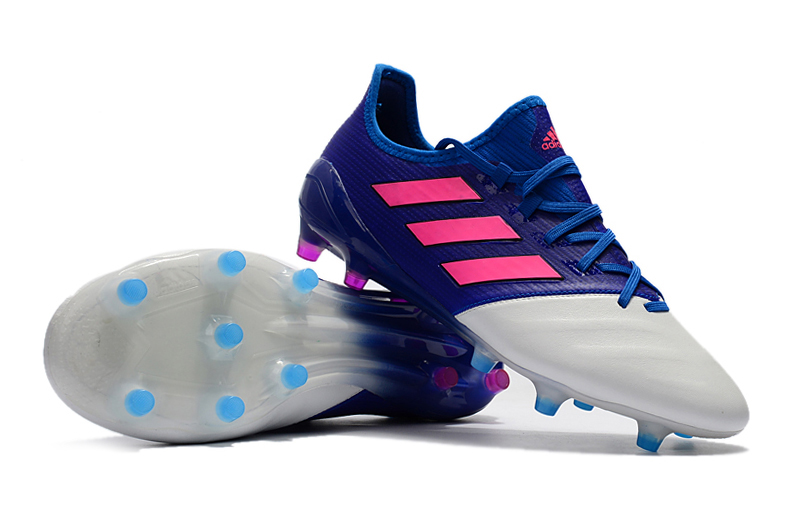 1a0168b872f1 Cheap 20adidas 20cleats 20adidas 20ace 2017.1 20leather 20fg 20pink 20blue  20white 852 original