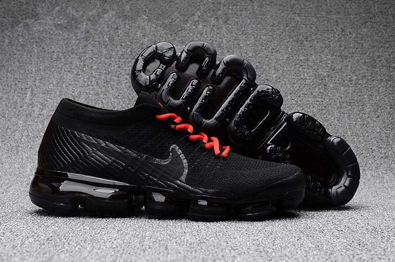 6a8ad01d8d2cc0 Authentic Nike Air VaporMax Mens Flyknit Black Orange Shoes on Storenvy