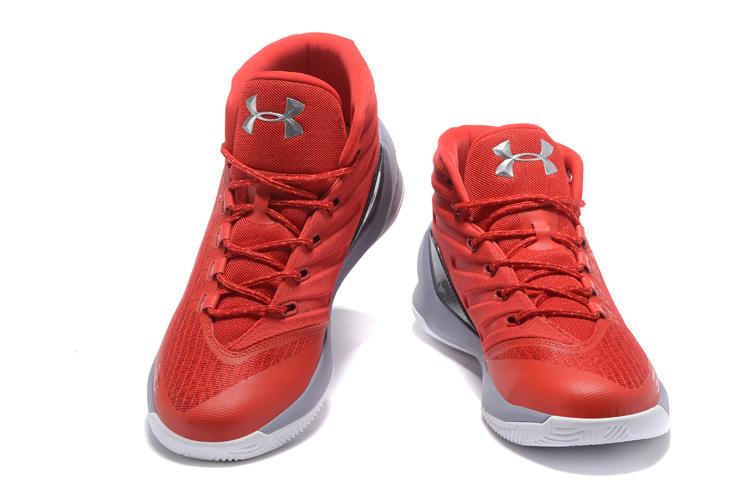 19521bc771c5 sneakerhead 2017 UA Stephen Curry 3 Red White Mens Basketball Shoe ...