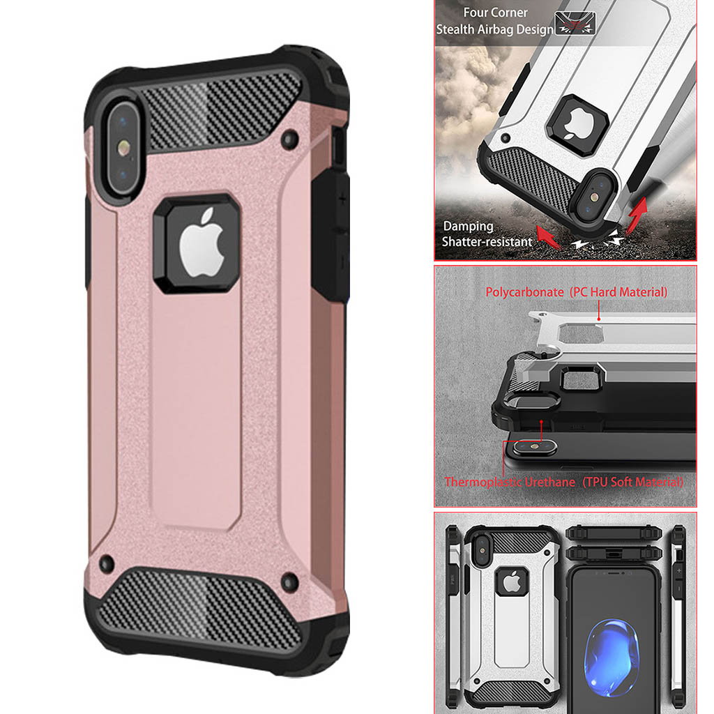 more photos ab62a d64e6 iPhone X Case Armor Shockproof,iPhone X Armor Defender Case Heavy Duty  Protection Dual Layer Corner Cushion Design for iPhone X from CLONEW