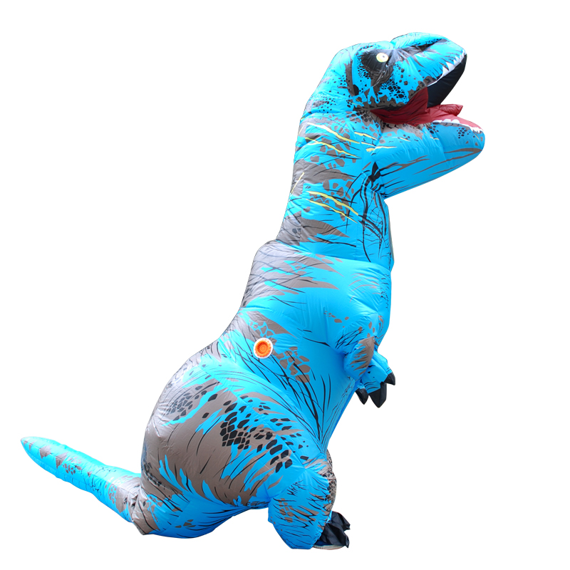 red brown yellow green inflatable dinosaur t rex costume blowup dinosaur halloween inflatable costume party costume