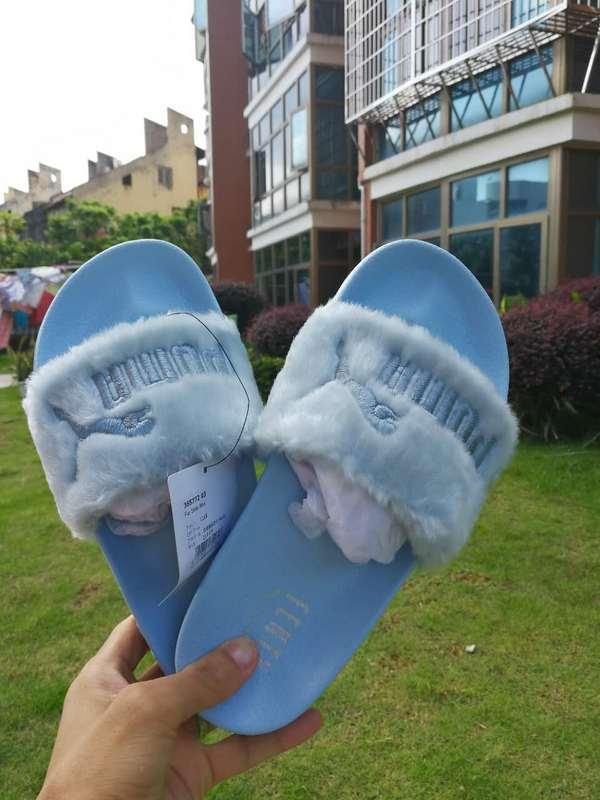 91502feaac32ec Fashion Puma Fenty Fur Slide All blue Slippers on Storenvy