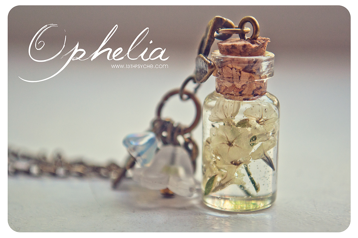 Dry Flowers Bottle Necklace Vial Necklace With Dry