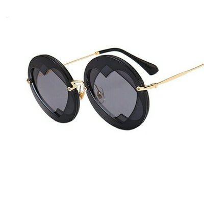 dd7b2f6438d Summer round sunglasses women popular brand loving heart style sun glasses  lady shades fashion female vintage