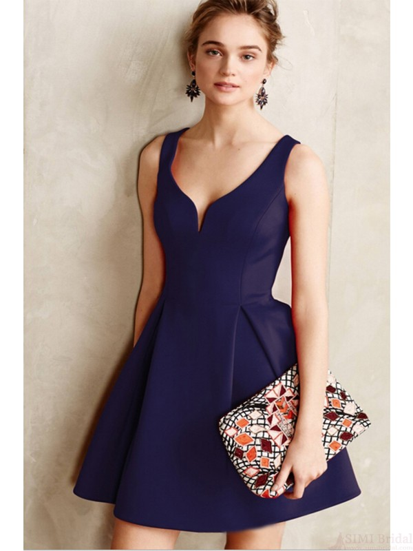 Vintage Solid Color Backless Dress For Women Plus Sizesd06 Simi