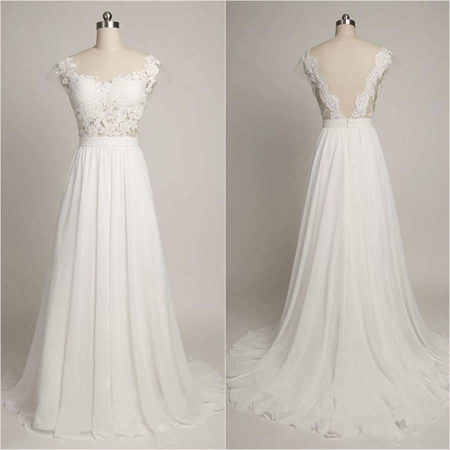 Scoop Neckline Wedding Dress