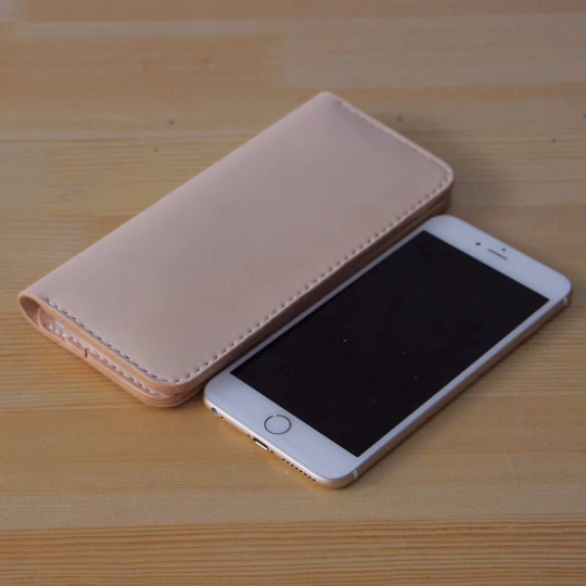 leather handmade case for iphone 6 plus