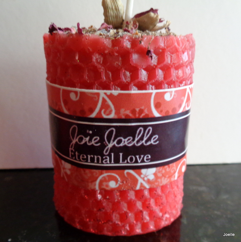 Eternal Love Spell Pillar Candle from Joie Joelle Creations