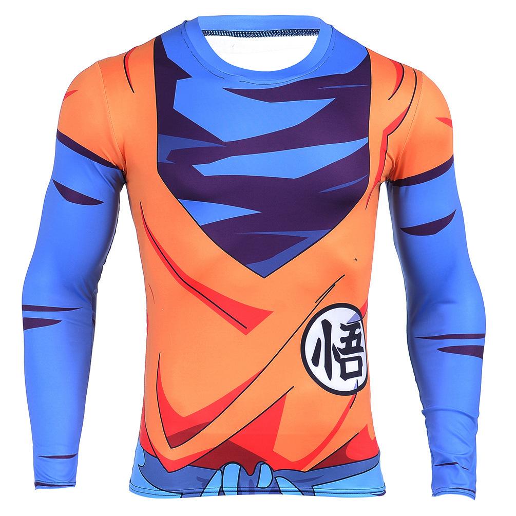 King Kai Training Goku Symbol Long Sleeves 3d Compression T Shirt On