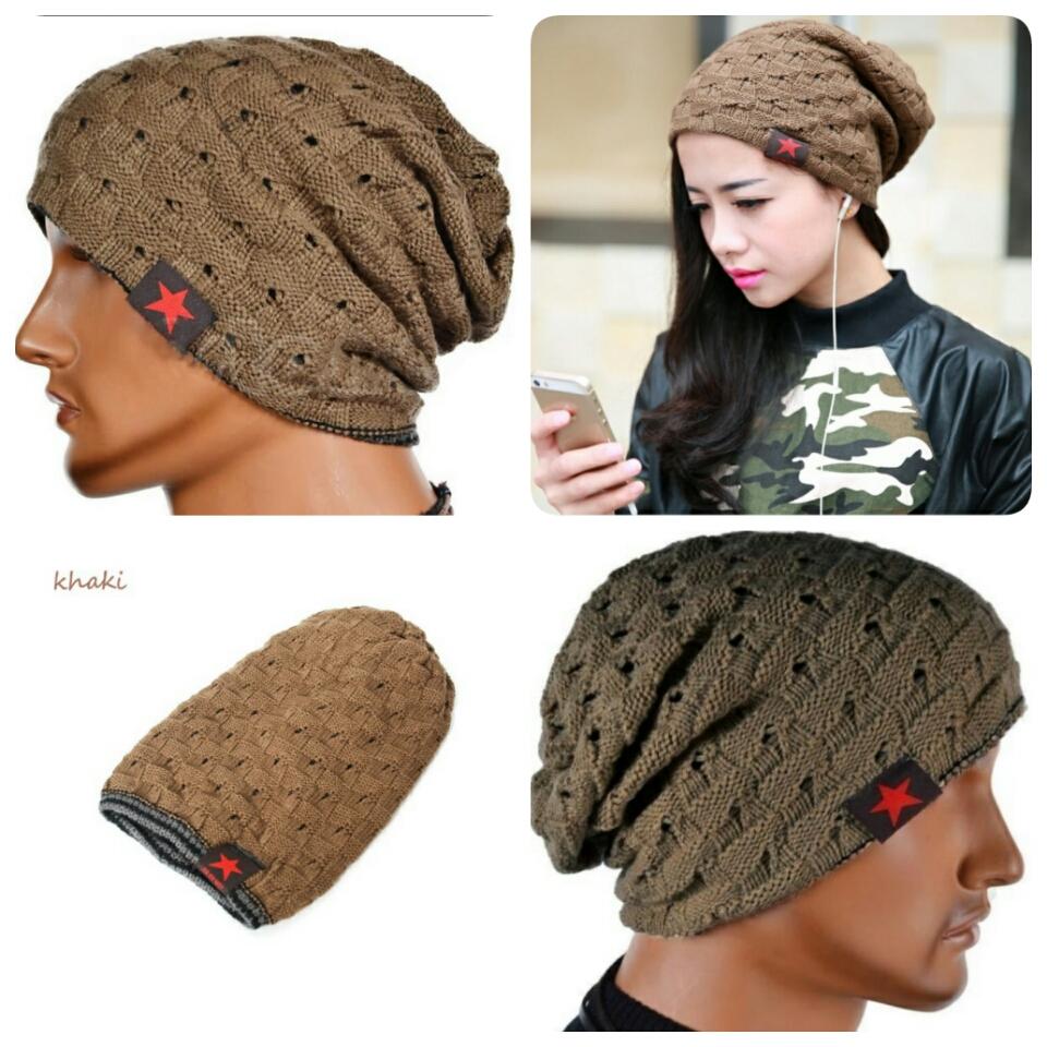6debbb1932c Women Men Unisex Warm Winter Skull Knitted Hat Baggy Beanie Hip-hop ...