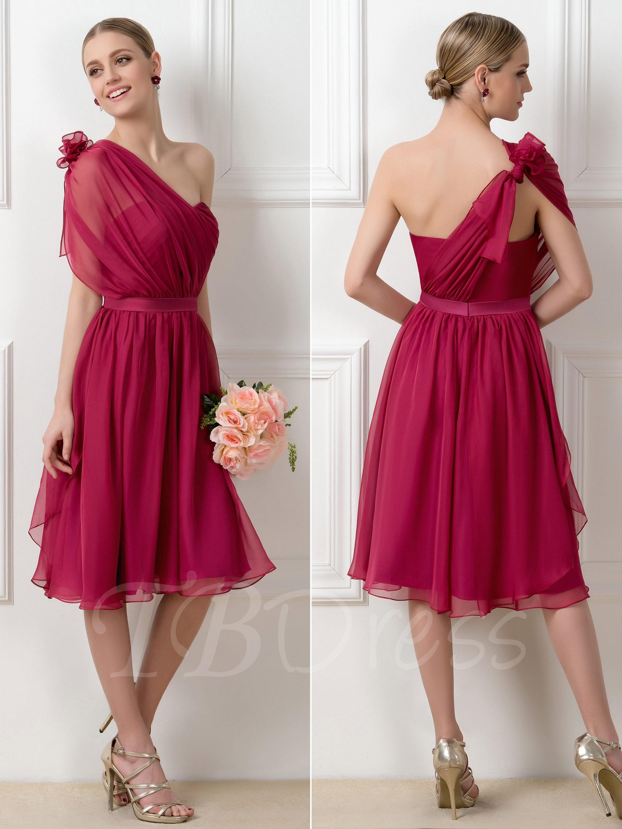 67ef15d5ebb3 W312 A-Line Tea-Length Convertible Short Bridesmaid Dress ...