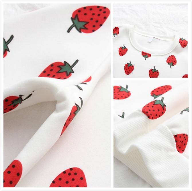 6dbfaac55 Starwberry print loose hoodie sweater YYL-303 · Yourfashionsandcute ...