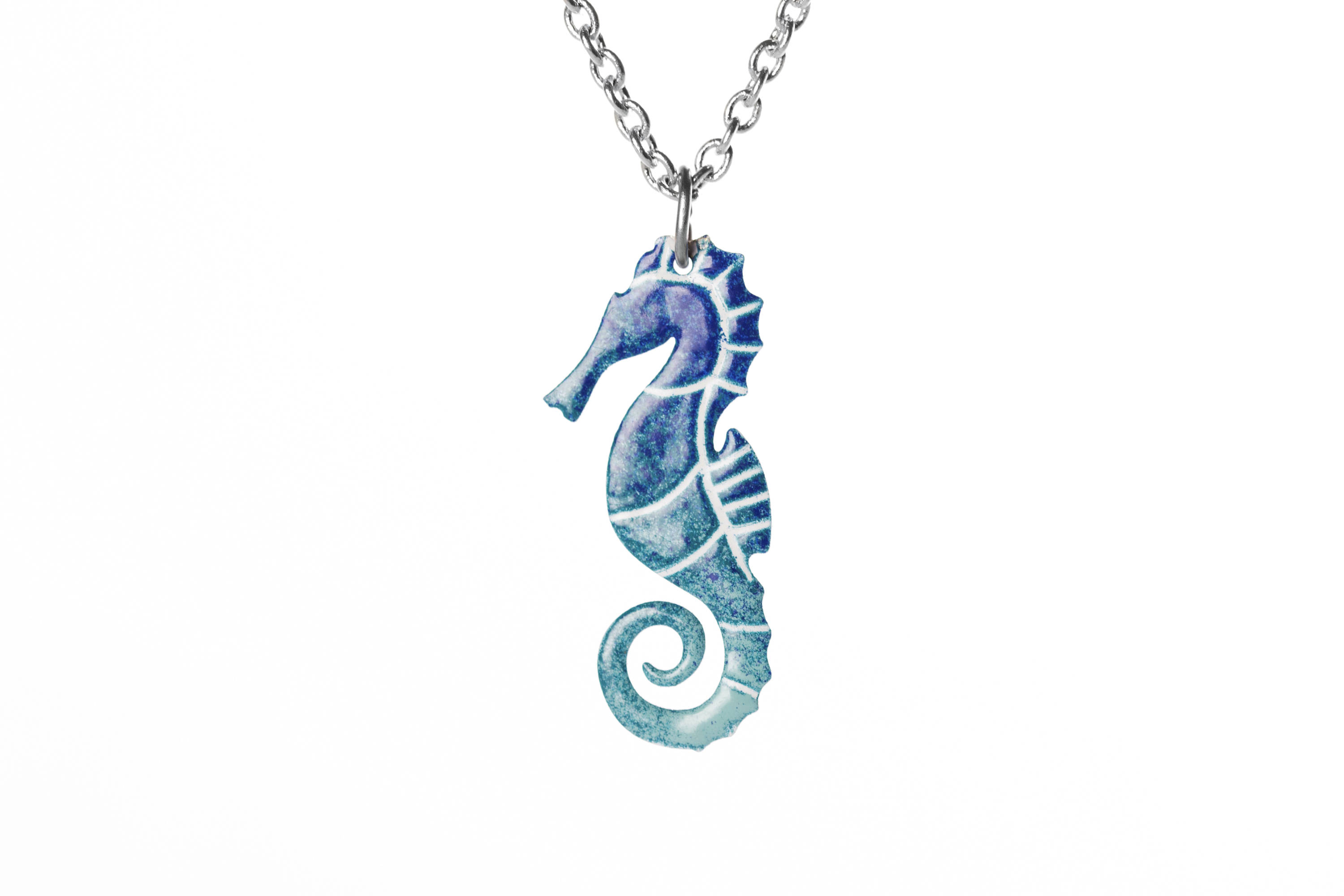 Seahorse Pendant Stainless Steel Enamel Pendant Handpainted Pendant Beach Necklace Seahorse Jewelry Nautical Jewelry For Women Cinkylinky Online Store Powered By Storenvy