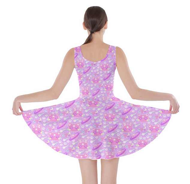 c74cb55fbb ☆ Cosmic Cuties Lilac Skater Dress ☆ Made To Order ☆ Fairy kei ...