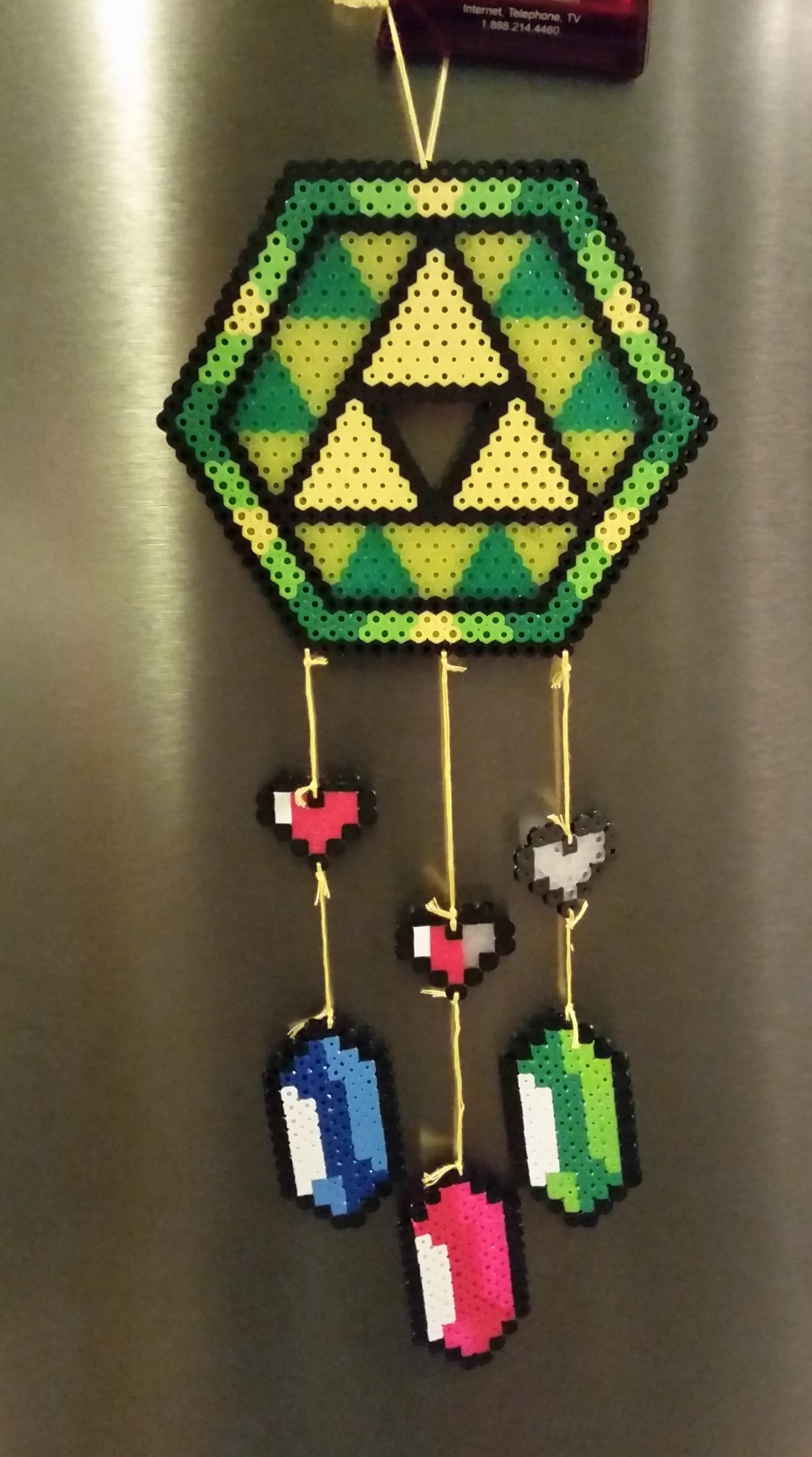 Fuse Bead Dreamcatcher - Legend of Zelda from Talentha's Artsy Treasures