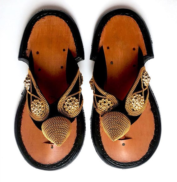 ad369d139 Traditional Men s Ghanaian Slippers Handmade Leather Slippers Men s ...