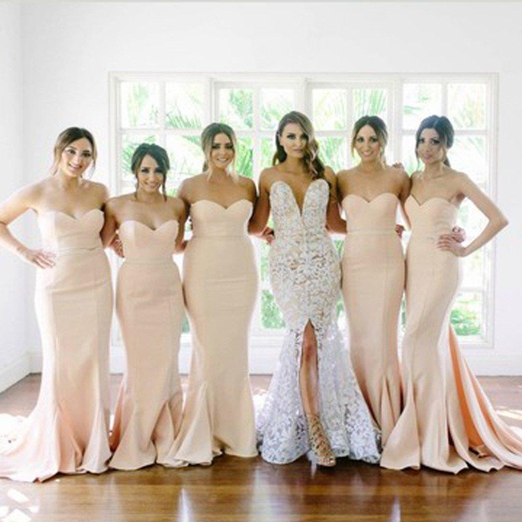 Mermaid Bridesmaid Dressnude Bridesmaid Gownmermaid Nude Prom