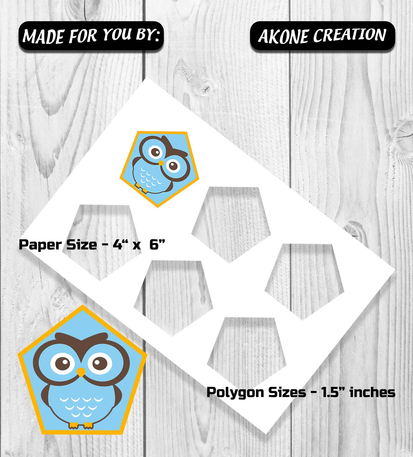 Customizable Polygon Template 4x6, Collage Set Clear PNG PSD Make ...