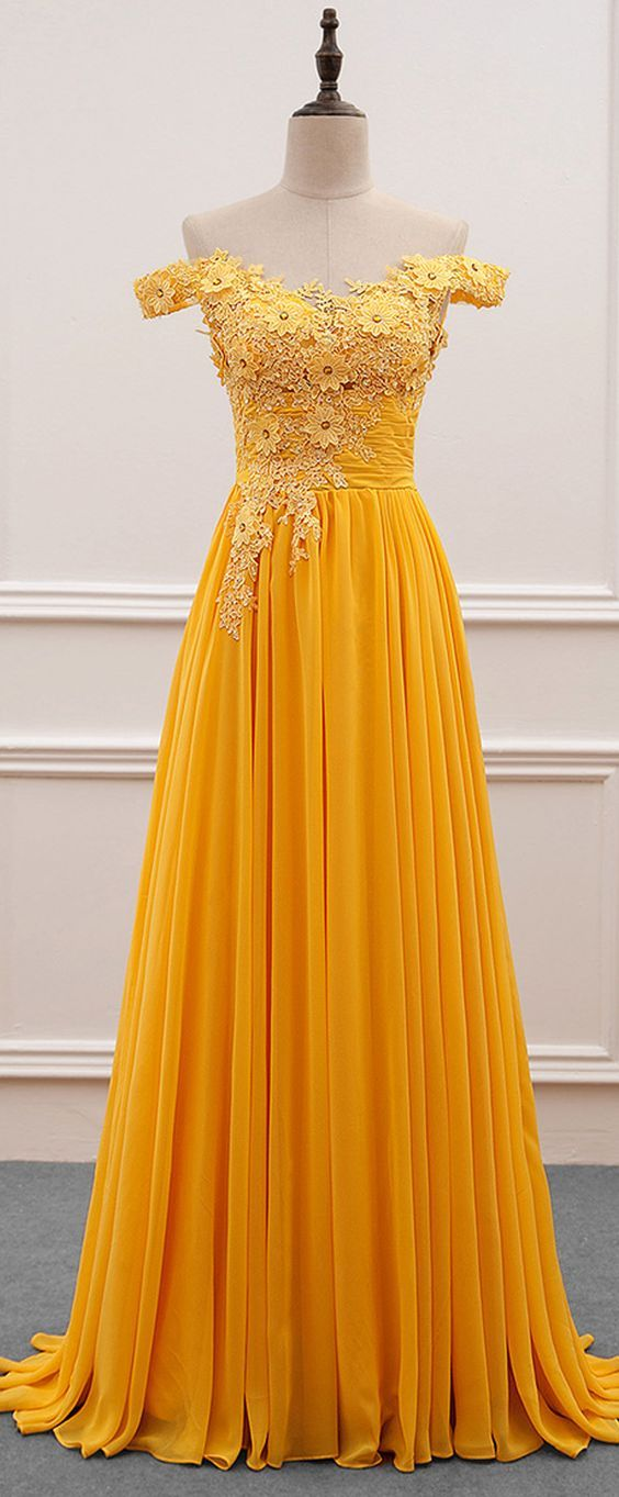 02a6761a7e15 yellow long prom dresses, elegant long prom dresses, yellow long evening  dresses graduation dresses