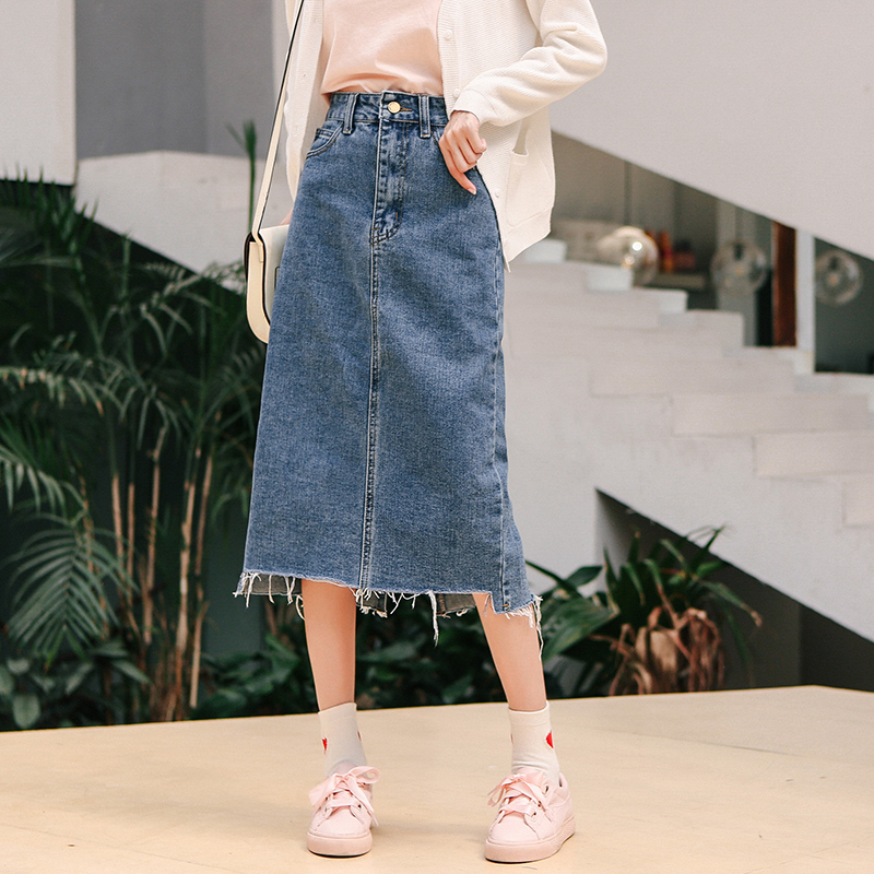 excellent quality price reduced entire collection Mid Calf Denim Skirt