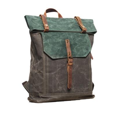 5962c253cdb6 Dark grey Waxed canvas backpack - Mens   Womens canvas travel rucksacks