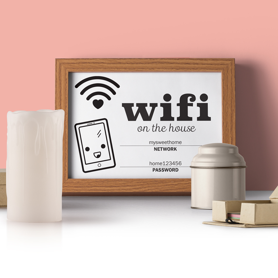 photograph about Wifi Password Printable titled Printable Editable Wifi Pword marketed through Eddie Close friends