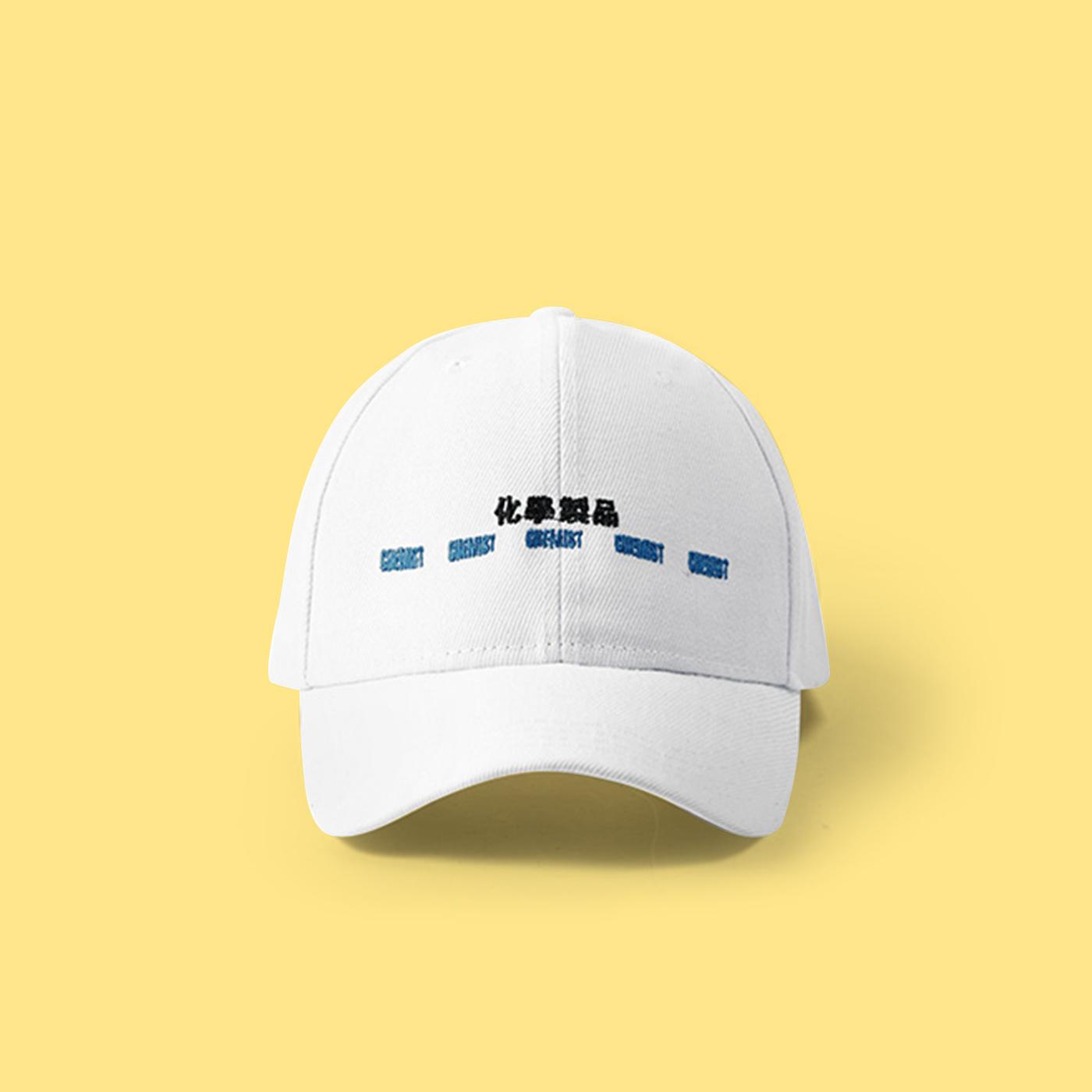 684cee035df JAPANESE CHEMICAL BASEBALL CAP IN WHITE on Storenvy
