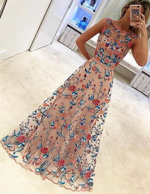 Floral Long Evening Dresses