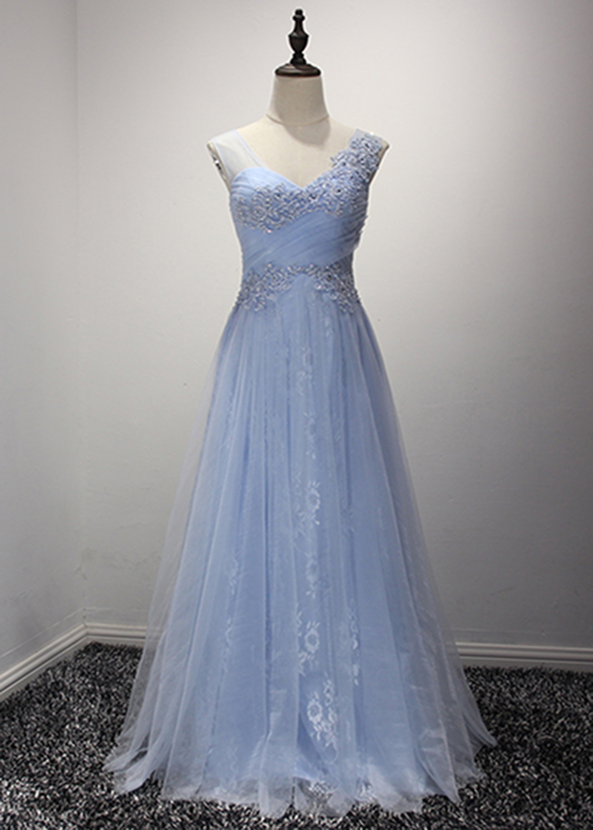 a80bf346da5 Ice Blue Long Prom Dress - Gomes Weine AG