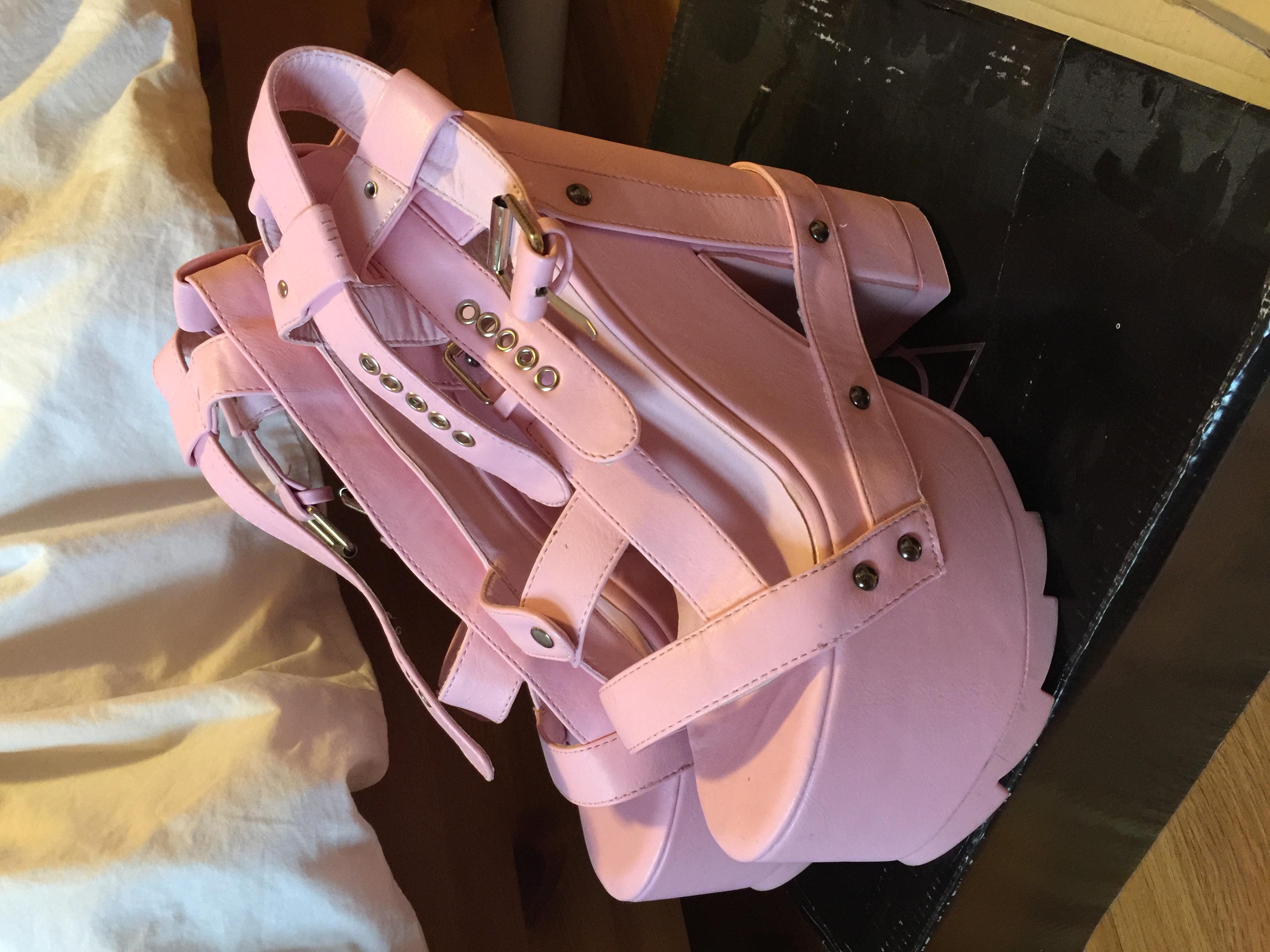 dd252026466 YRU Nightcall heels baby pink on Storenvy