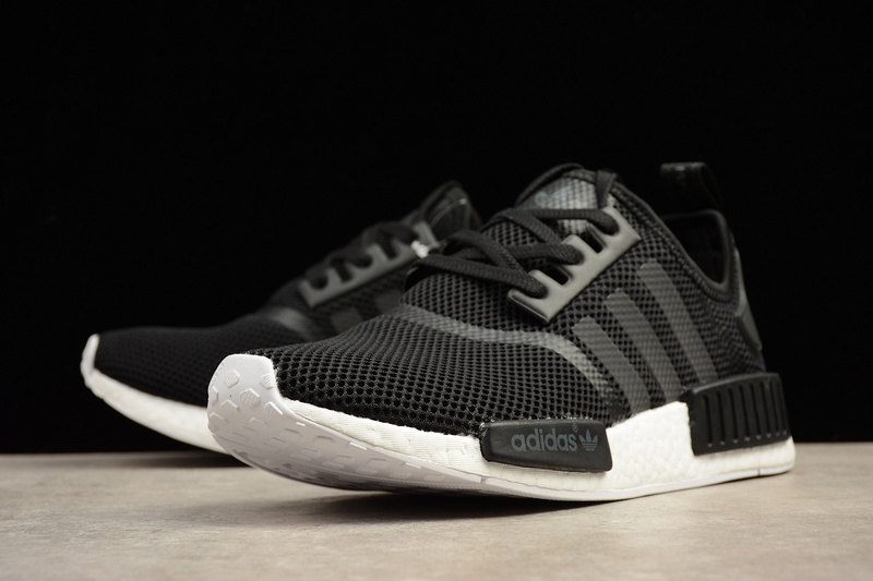 f6b1487ac81f7 Adidas NMD Boost R1 black runner shoes S79165 · Toms · Online Store ...