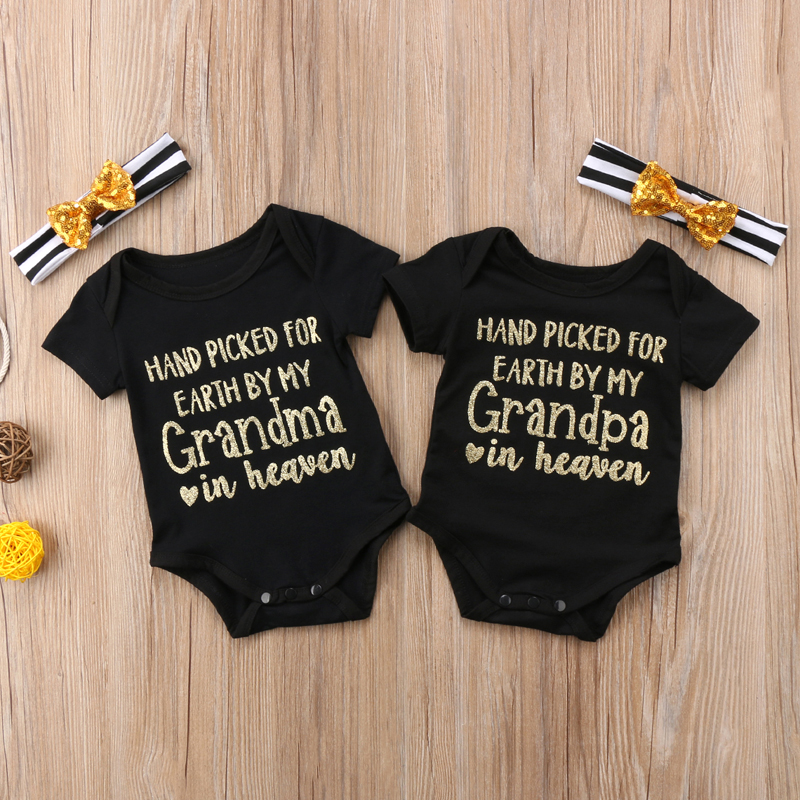 d8c61c896 Hand Picked For Earth By My Grandma/pa In Heaven Onesie and Headband Set on  Storenvy