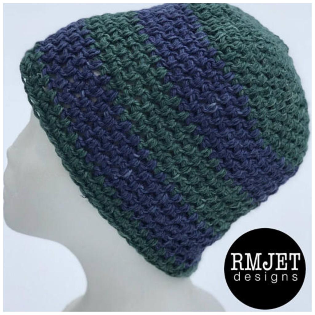a56d5cebbe1 ... Image of Handmade hand-dyed HEMP crochet beanie hat