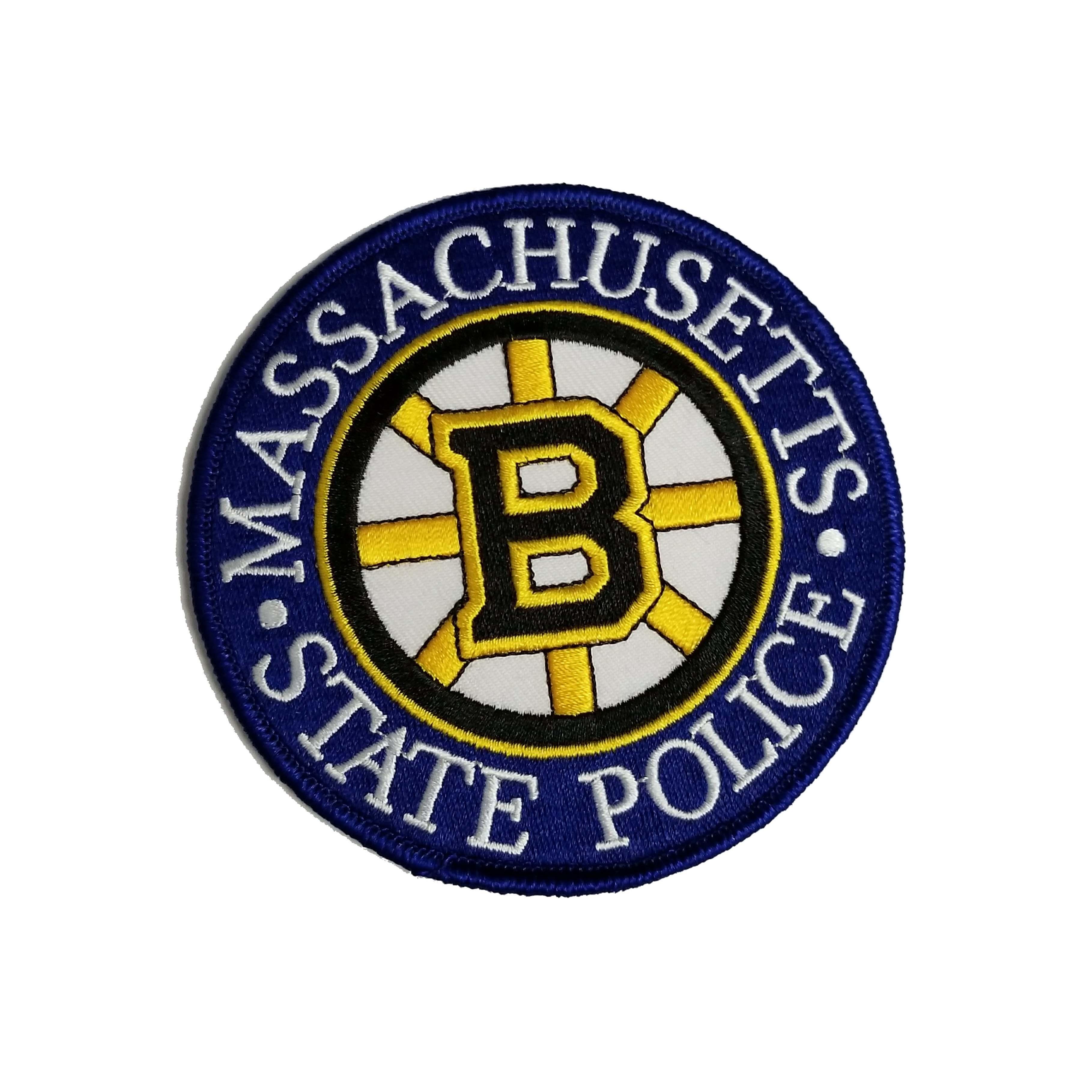 MA State Police Bruins Patch (round) · Novelty Patch, Etc