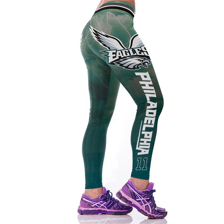 8d918ec6bbcbb ... Philadelphia Eagles NFL Sexy Women Leggings Football Team 2018 -  Thumbnail 3 ...