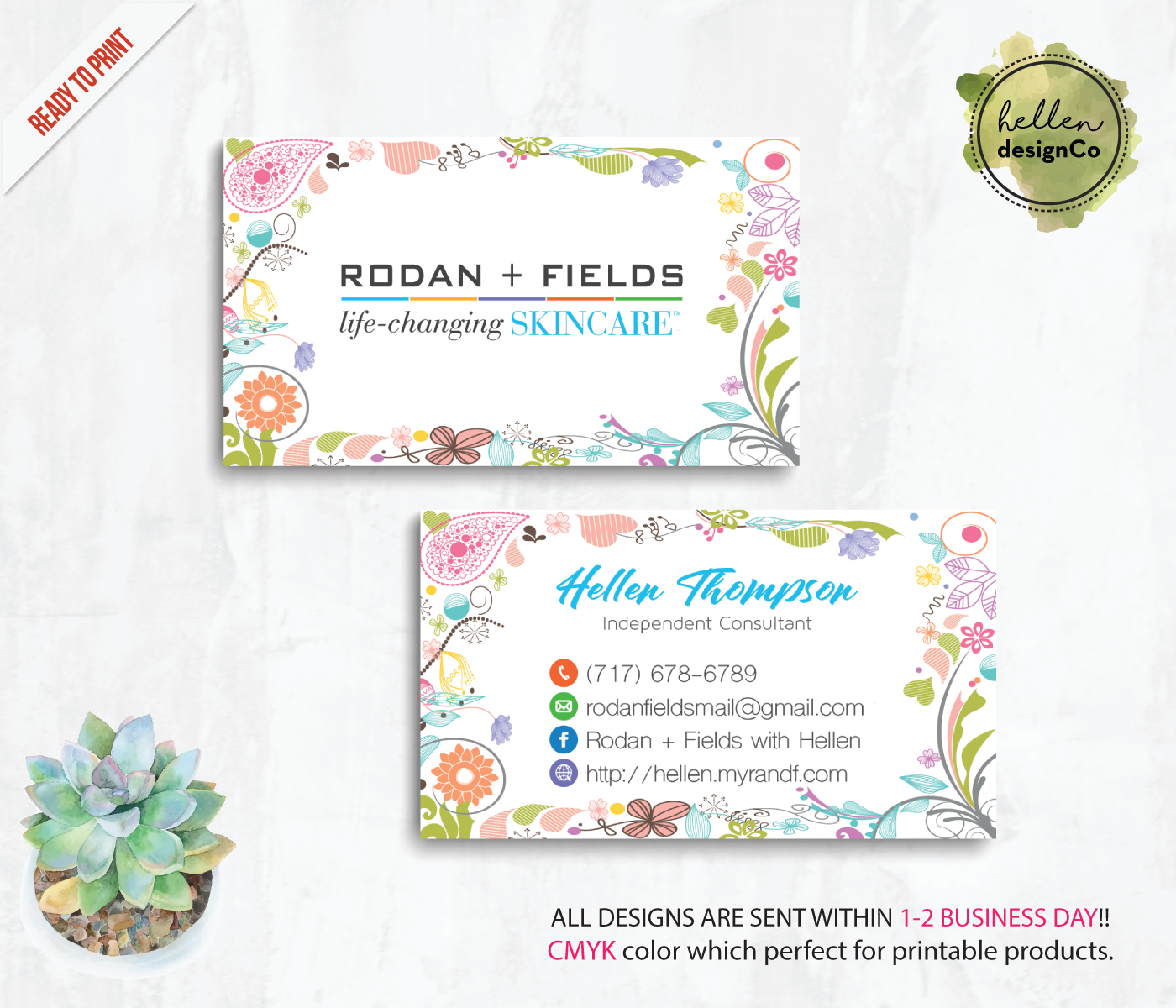Rodan and fields business cards rodan and fields digital files file 3740bc9678 original colourmoves