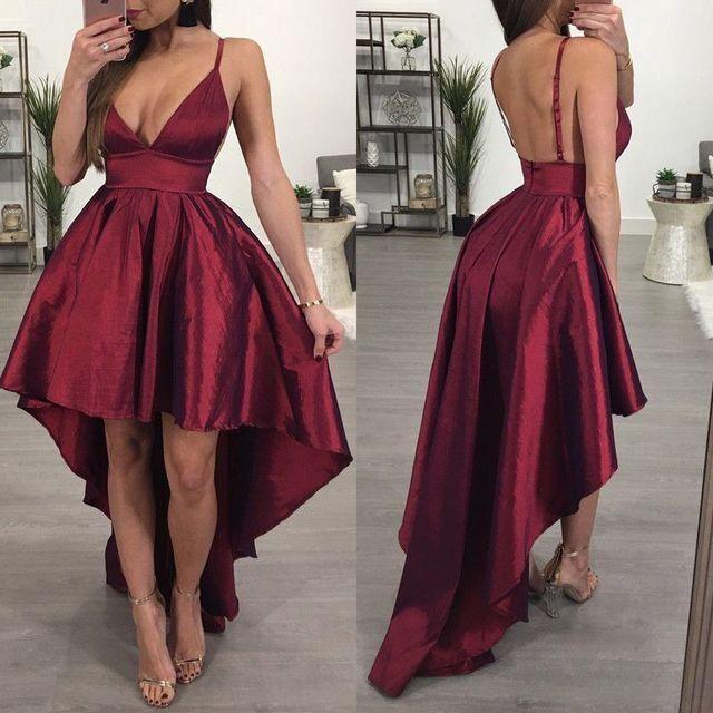 V-Cut Prom Dresses