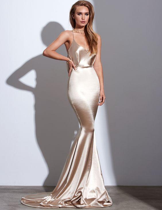 Satin Mermaid Prom Dress