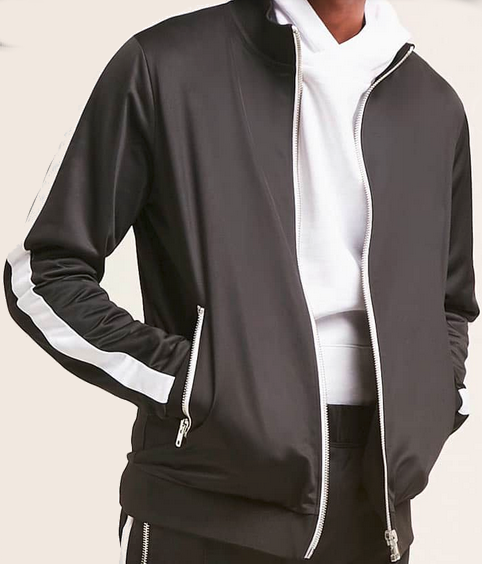 ebec732f4 Men's Striped Track Jacket from StayReady Styles