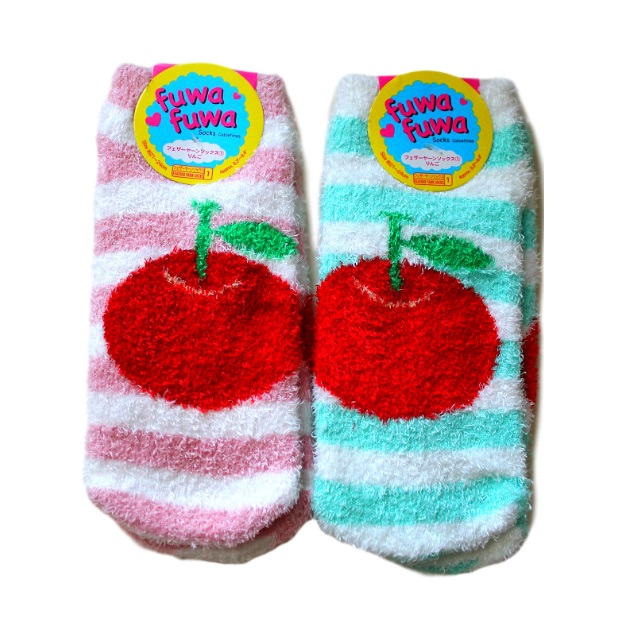 1fe150c68 Fluffy Apple Socks Women- Kawaii Clothing and Accessories on Storenvy