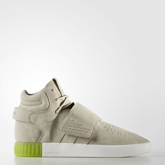 dab6be3528ae Adidas  Tubular Invader Strap Sneakers (Solar Lime) on Storenvy